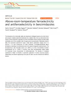 Above-room-temperature ferroelectricity and ... - BioMedSearch