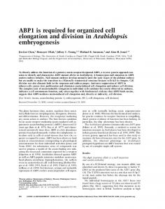 ABP1 is required for organized cell elongation and ... - Semantic Scholar