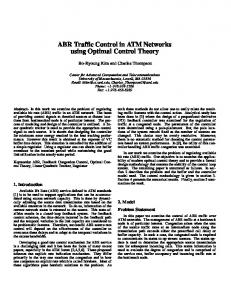 ABR Traffic Control in ATM Networks using Optimal Control Theory