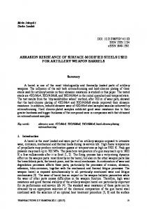 abrasion resistance of surface-modified steels used for artillery