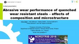 Abrasive wear performance of quenched wear ...
