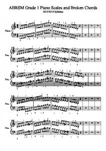 ABRSM Grade 1 Piano Scales and Broken Chords - Gifford Birchley