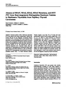 Absence of BRAF, NRAS, KRAS, HRAS Mutations, and RET - CiteSeerX