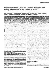 Absence of IL-10 Production with Airway Inflammation in the ...