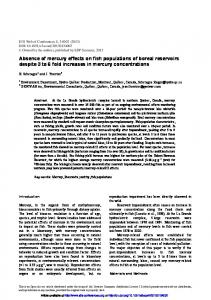 Absence of mercury effects on fish populations of boreal reservoirs ...