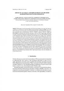 ABSOLUTE ACCURACY AND REPEATABILITY OF ... - Springer Link
