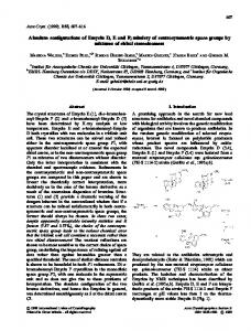 Absolute configurations of Emycin D, E and F ... - Wiley Online Library