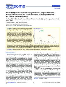 Absolute Quantification of Allergens from Complex