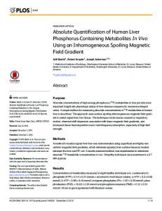Absolute Quantification of Human Liver ... - Semantic Scholar