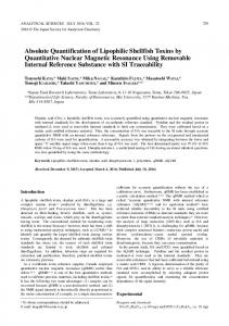 Absolute Quantification of Lipophilic Shellfish Toxins by ... - J-Stage