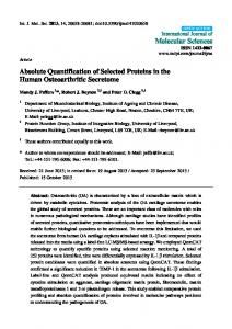 Absolute Quantification of Selected Proteins in the