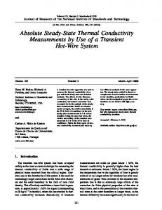 Absolute Steady-State Thermal Conductivity Measurements by Use of ...