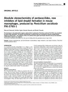 Absolute stereochemistry of pentacecilides, new inhibitors of ... - Nature