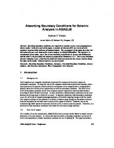 Absorbing Boundary Conditions for Seismic ... - Semantic Scholar