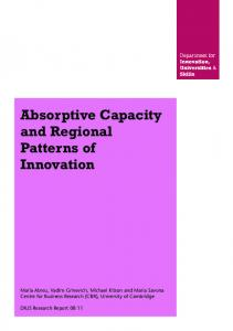 Absorptive Capacity and Regional Patterns of Innovation