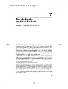 Absorptive Capacity: How Much Is Too Much? - Center For Global ...