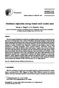 Abstinence trajectories among treated crack ... - Semantic Scholar