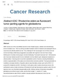 Abstract 4242: Rhodamine esters as fluorescent ...