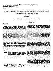 Abstract A Strategic Approach for Developing a Conceptual Model for