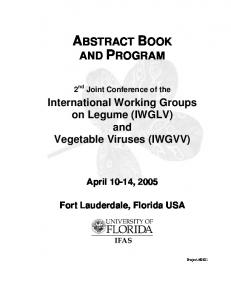 abstract book and program - iwglvv