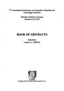 Abstract Book IC-CMTP3 ISBN - ic-cmtp4
