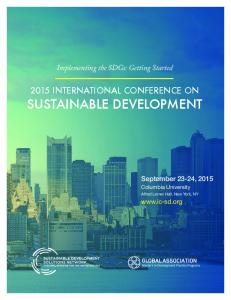 Abstract Book - International Conference on Sustainable Development