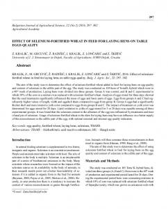 Abstract - Bulgarian Journal of Agricultural Science