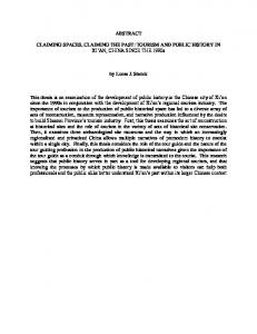 ABSTRACT CLAIMING SPACES, CLAIMING THE ... - OhioLINK ETD