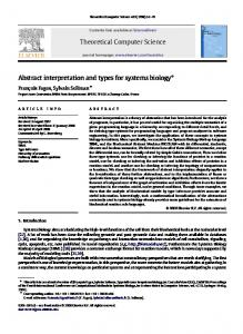 Abstract interpretation and types for systems biology