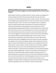 ABSTRACT MONSUR, MUNTAZAR. Does Childcare Architecture ...