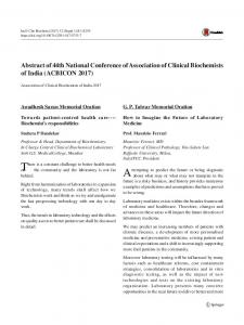 Abstracts of 42nd National Conference of Association     - MAFIADOC COM