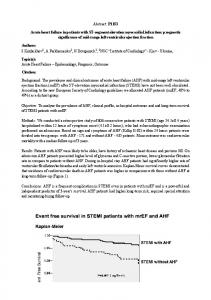 Abstract: P1153 Acute heart failure in patients with