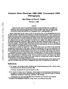 Abstract State Machines 1988-1998: Commented ASM Bibliography