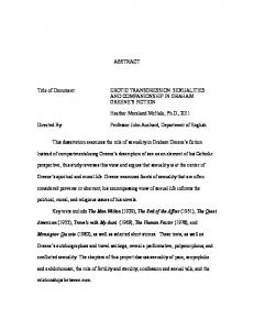 ABSTRACT Title of Document: EROTIC TRANSGRESSION ... - DRUM