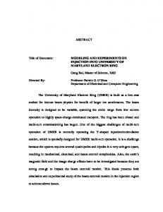 ABSTRACT Title of Document: MODELING AND ... - UMER