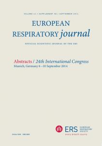Abstracts / 24th International Congress