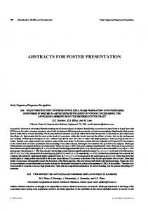 abstracts for poster presentation - CSIRO Publishing