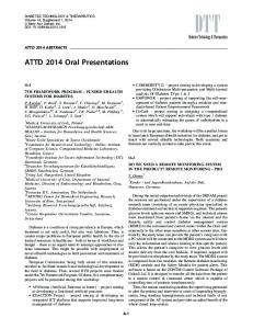 Abstracts from ATTD 2014 7th International Conference on Advanced ...