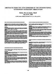 ABSTRACTS FROM THE 15TH CONGRESS OF ... - Wiley Online Library