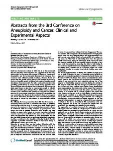 Abstracts from the 3rd Conference on Aneuploidy and Cancer: Clinical ...