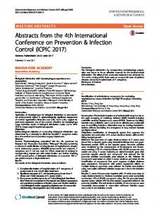 Abstracts from the 4th International Conference on
