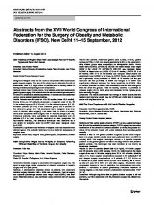 Abstracts from the XVII World Congress of ...