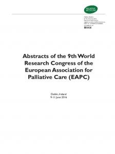 Abstracts of the 9th World Research Congress of the