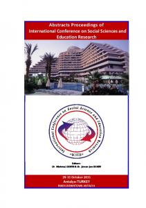 Abstracts Proceedings of International Conference on ...