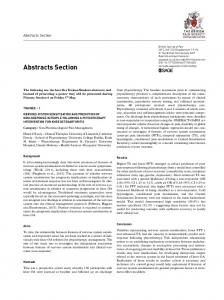 Abstracts Section - SAGE Journals