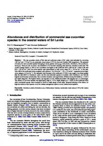 Abundance and distribution of commercial sea cucumber species in ...