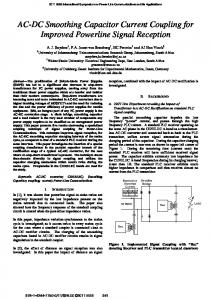 AC-DC Smoothing Capacitor Current Coupling for ... - IEEE Xplore