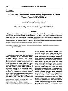 AC-DC Zeta Converter for Power Quality Improvement in Direct ...