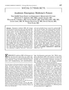 Academic Emergency Medicine's Future - Wiley Online Library