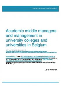 Academic middle managers and management in university colleges ...